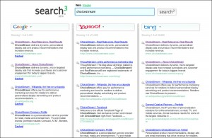 Sample search at search3.com